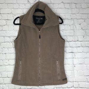 ♣️ Calvin Klein Fleece Vest Tan Size Medium